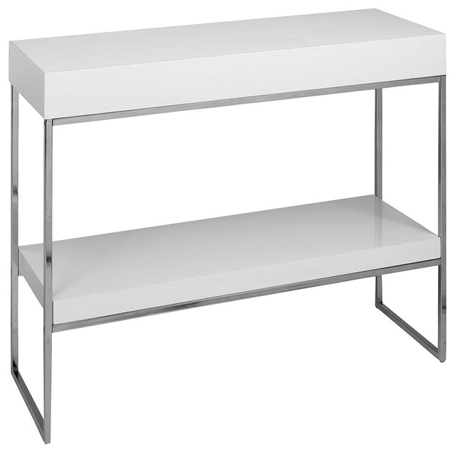 White Fred Console - Contemporary - Accent Chests And Cabinets