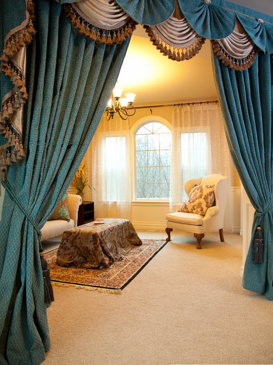 Blue Salon - Designer Swag Valance Curtains -