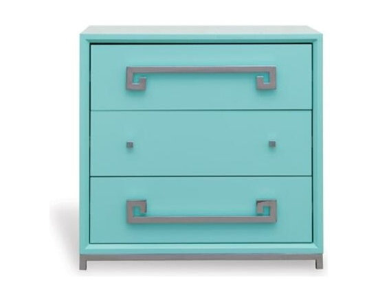 Port 68 - Port 68 Hancock Chest-Turquoise - Material: Asian hardwoods/MDF/Metal hardware