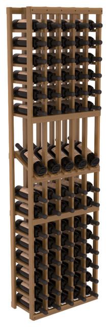 5 Column Display Row Wine Cellar Kit in Redwood, Oak + Satin Finish contemporary-wine-racks