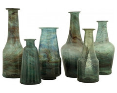 Bottle Vases eclectic vases