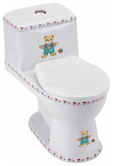 children 39 s toilet white buddy bear child size toilet