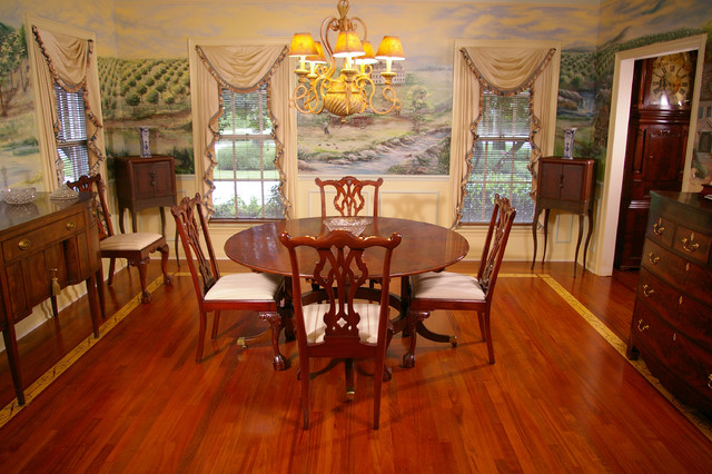 Ornate Border Traditional Dining Room Tampa By