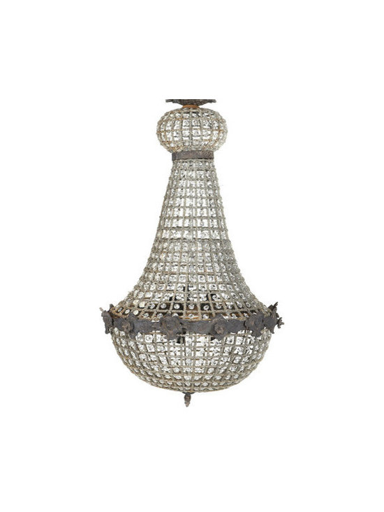 "Empire Chandelier - This empire chandelier measures 22""w x 22""d x 37""h."