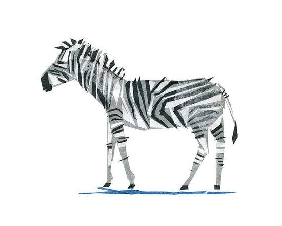 Zeb Zebra Animal Art Print by Tiny Fawn -