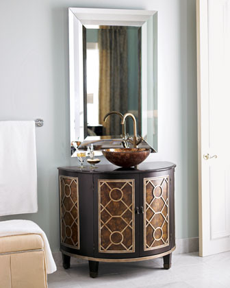 Circles Chest with Sink traditional bathroom vanities and sink consoles