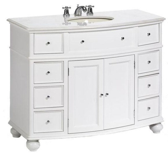 Hampton Bay Curved Bath Vanity Traditional Bathroom