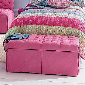 Tufted Bench contemporary toy storage