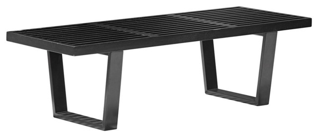 Zuo Heywood Double Black Bench contemporary benches