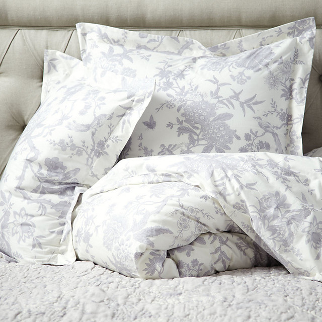 Jardin Toile Duvet Cover Lavender King Traditional Bedding By Ballard Designs