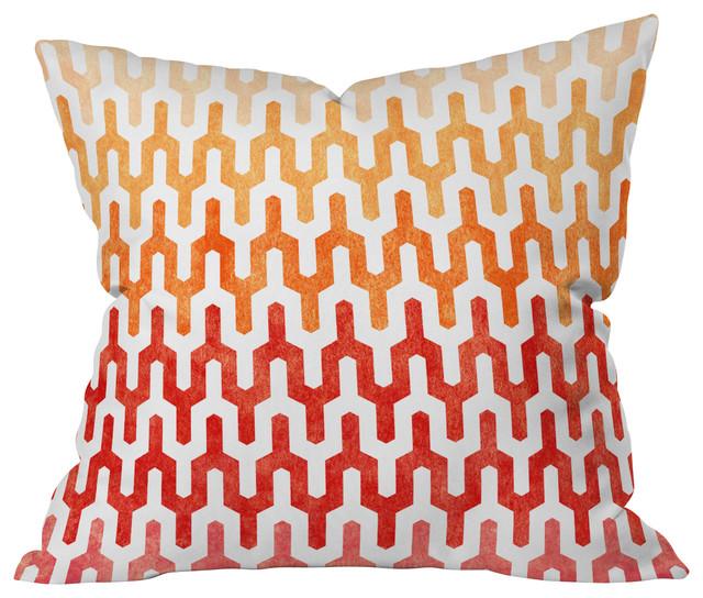 Arcturus Warm 1 Throw Pillow contemporary-decorative-pillows