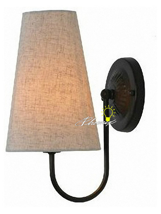 Antique Country Linen Shades Wall Sconce - Antique Country Linen Shades Wall Sconce
