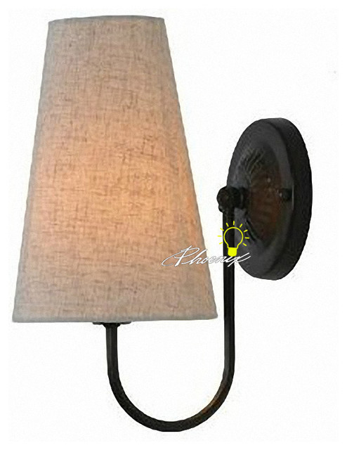 Wall Sconces With Linen Shades : Antique Country Linen Shades Wall Sconce - Contemporary - new york - by PHOENIX LIGHTING