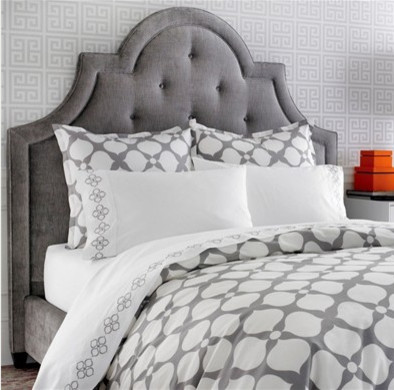 Hollywood Grey Duvet transitional-duvet-covers