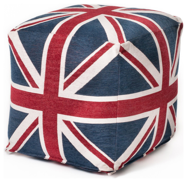 Union Jack 18-inch Cubed Beanbag contemporary-footstools-and-ottomans