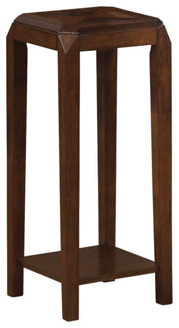 Monarch Specialties I 1946 Brown Oak Veneer Plant Stand contemporary-side-tables-and-accent-tables