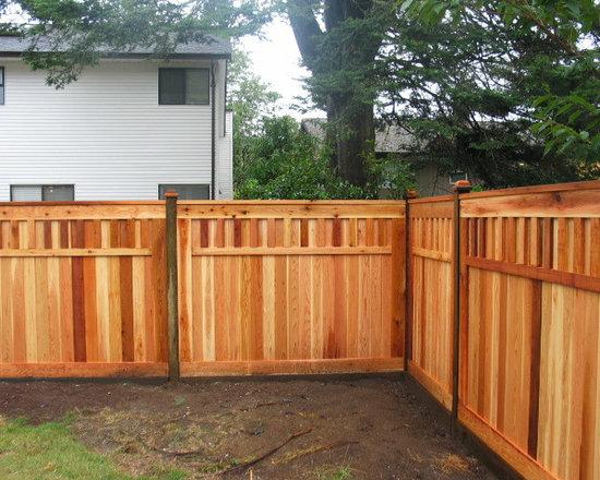 Fort style fence - Quality Custom Cedar Fencing