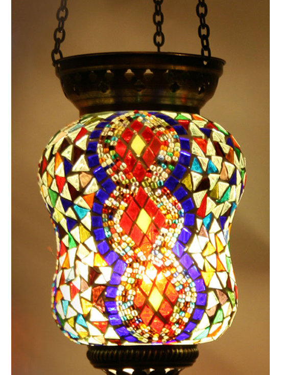 Turkish Style Mosaic Pendant Lamp 14cm - Decorative Mosaic Glass Turkish Style Pendant Ligting