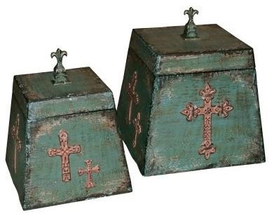 Elk Lighting Monastery Trinket Boxes - Set of 2 modern-storage-bins-and-boxes