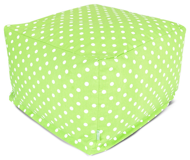 Indoor Lime Small Polka Dot Large Ottoman contemporary-footstools-and-ottomans