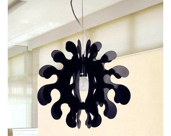 Seaweed Shape Pendant Interior Lighting Black - SOLD OUT~
