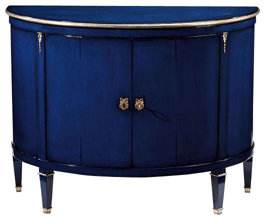 Blue Demilune Cabinet  Traditional  Storage Cabinets  by Inviting