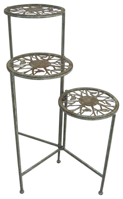 Metal 3 tier plant stand contemporary plant stands and telephone tables by - Tiered metal plant stand ...