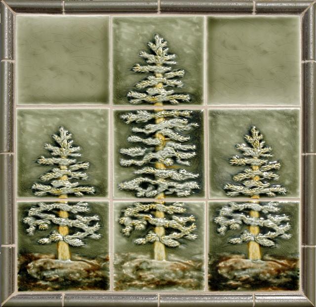 Fir Tree Panel - Traditional - Tile - portland - by Pratt ...
