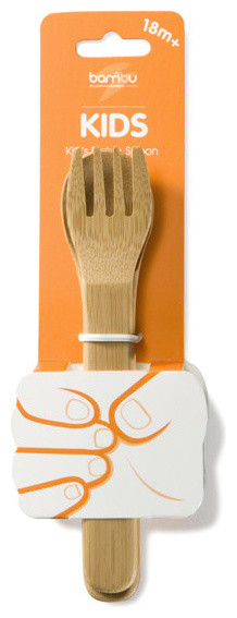 Bambu Kid's Utensil Fork & Spoon Set flatware