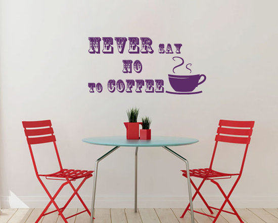 Vinyl Decals Never Say No Coffee Quote Home Wall Decor Removable Sticker Mural L -