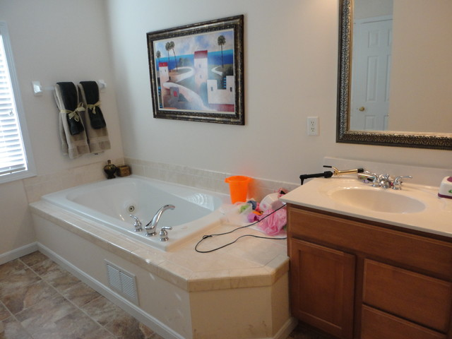 Updated Master Bath on a budget traditional