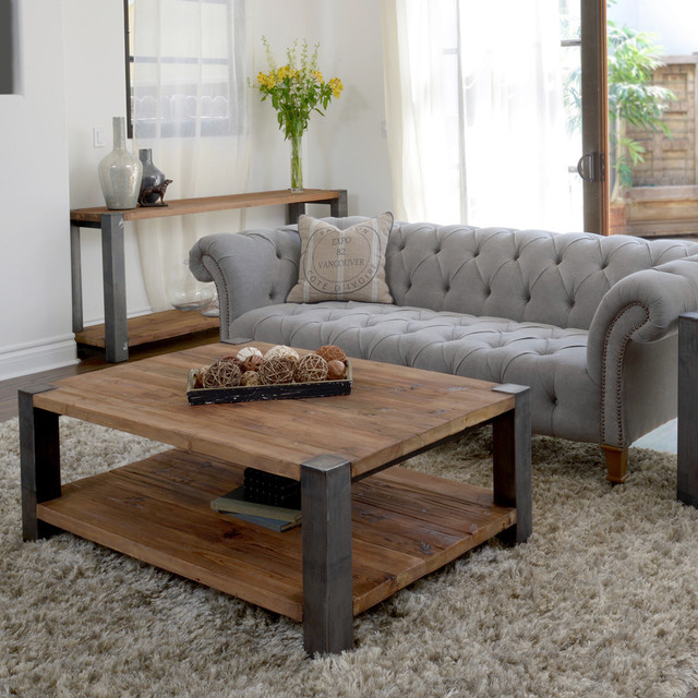 Willow Iron Leg Coffee Table contemporary-coffee-tables