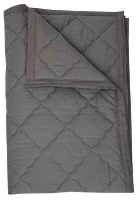 Twin Quilt - solid grey contemporary-kids-bedding