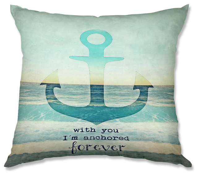 Pillow Woven Poplin from DiaNoche Designs by Monika Strigel With You I'm Anchore contemporary-decorative-pillows