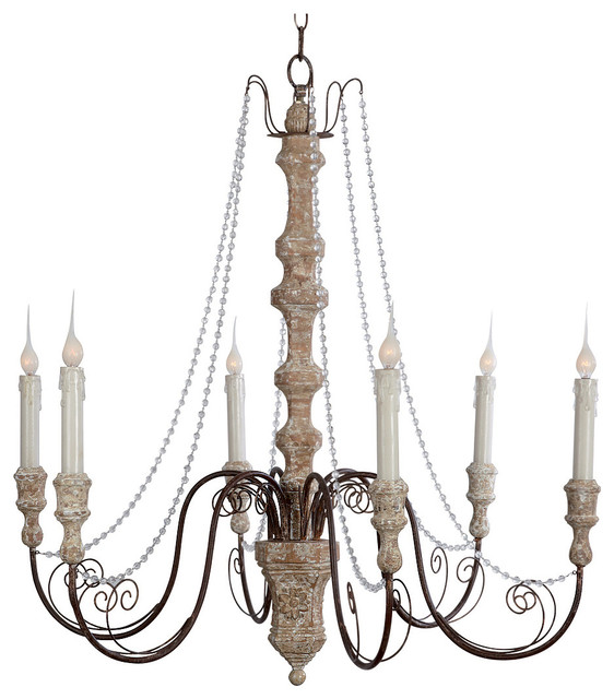 White French Country Chandeliers