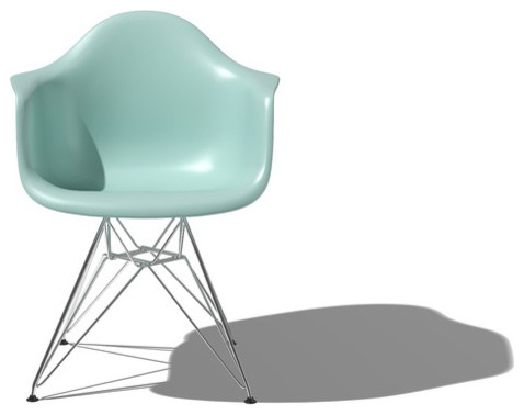 Herman Miller Eames Molded Plastic Armchair with Wire Base modern armchairs