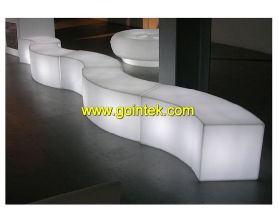 outdoor led bench -