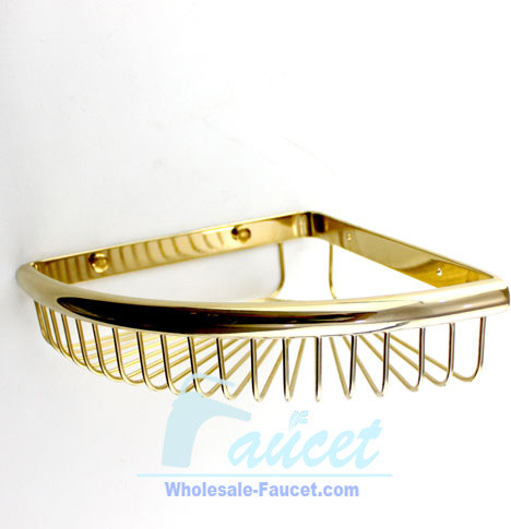 Polished Brass Wall Mounted Soap Basket contemporary-bath-products