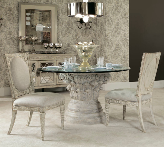 American drew jessica mcclintock boutique 4 piece round for 4 piece dining room set