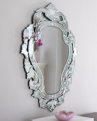 Petite Venetian-Style Mirror  traditional mirrors