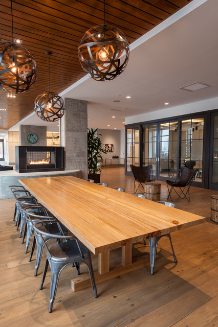 Communal dining table modern dining tables boston by infusion furniture - Restaurant communal tables ...