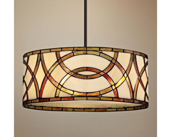 Art Glass Circles Tiffany Style Pendant Chandelier -