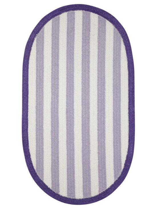 Taffy rug in Royal Purple - Playful color adorns the floor in a cleverly crafted stripe. Taffy is the perfect solution for any casual space in need of a pop of color.