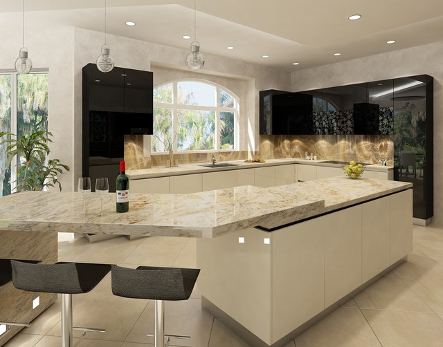Gallery For gt Contemporary Kitchen Islands