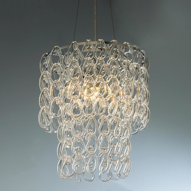 Round Glass Chain Chandelier Chandeliers by Shades of