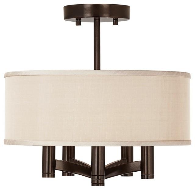 Desert Sand Ava 5-Light Bronze Ceiling Light transitional-flush-mount-ceiling-lighting