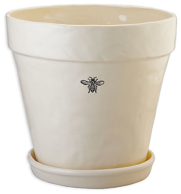 Ceramic Bee Planter transitional-indoor-pots-and-planters