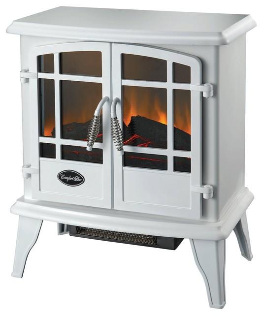 Comfort Glow Keystone Electric Stove White - Transitional ...