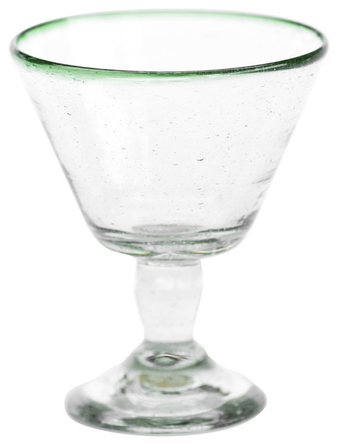 Sobremesa by Greenheart Green Wine Glasses, Set of 4 contemporary-everyday-glasses
