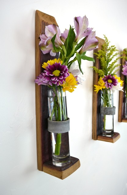 Wall hanging flower holders short version - Great decorative flower vase designs ...